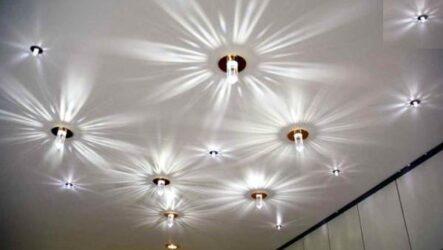 Виды светильников для натяжных потолков, их характеристики и особенности