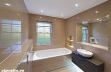 Натяжной потолок в ванной: особенности, плюсы и минусы